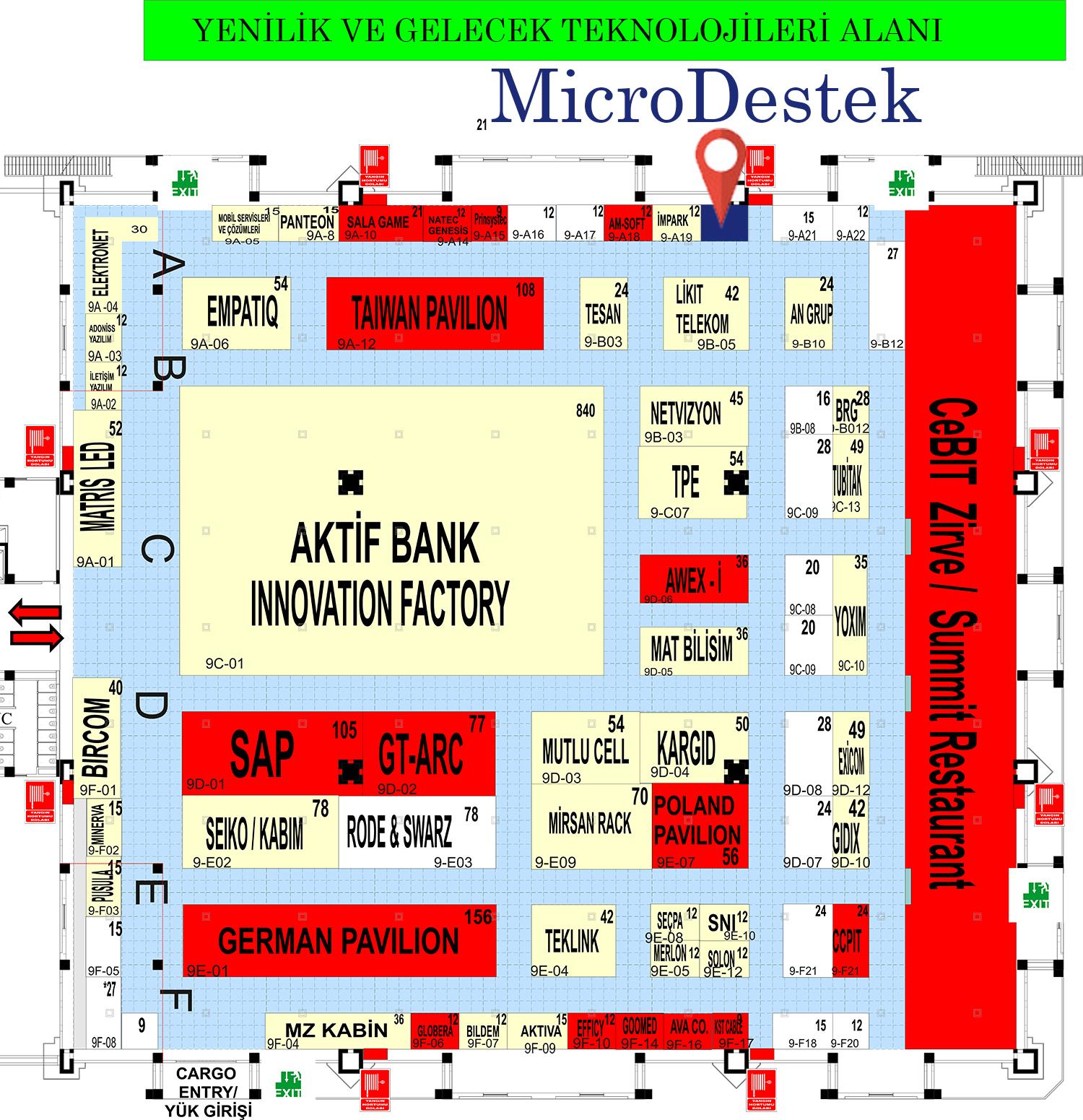 MicroDestek Cebit Fuar Alanında Nerede ?