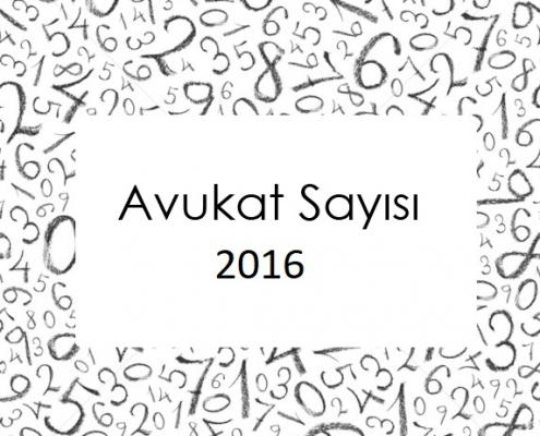 Avukat Sayısı 2016 -1
