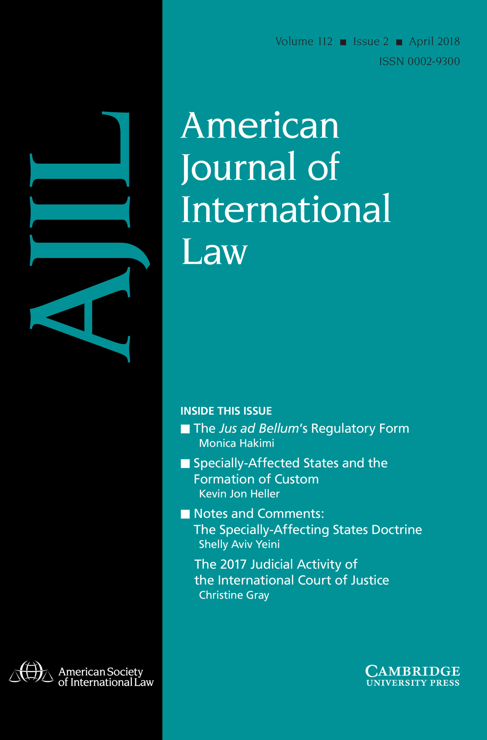 Dünyada ki En Popüler 5 Hukuk Dergisi - American Journal of International Law