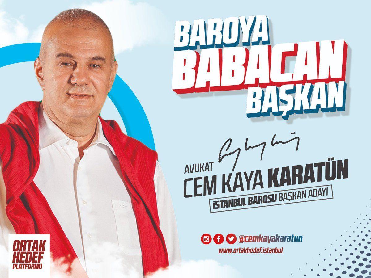 İstanbul Barosu Başkan Adayları - 2018 - Av. Cem Kaya KARATÜN