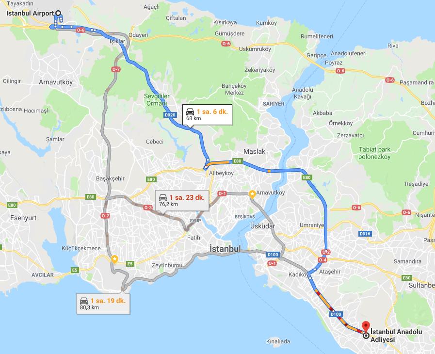 İstanbul Anadolu Adliye Sarayına Nasıl Gidilir - İstanbul Havalimanı
