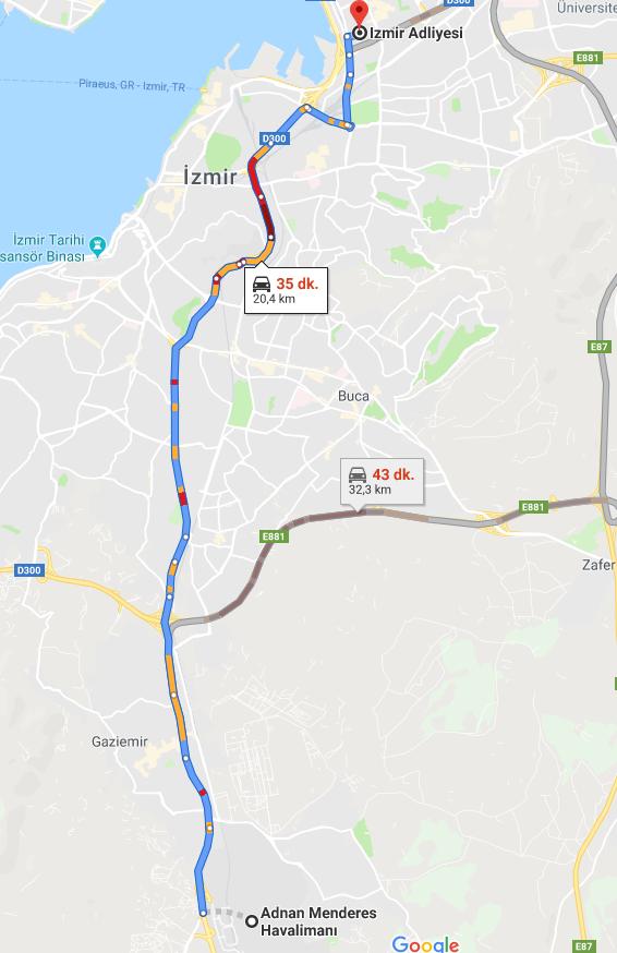 İzmir Adliyesine Nasıl Gidilir - İzmir Adnan Menderes Havalimanı