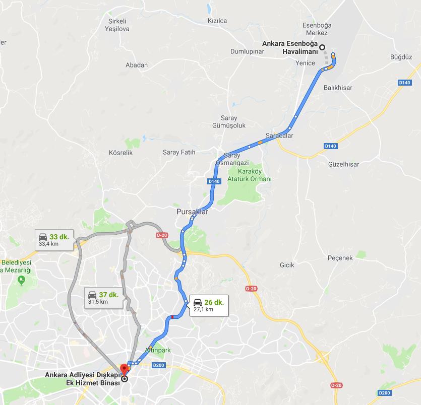 Ankara Adliyesine Nasıl Gidilir - Dışkapı Ek Hizmet Binası