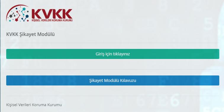 KVKK Şikâyet Modülü - 1