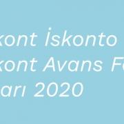 Reeskont İskonto ve Reeskont Avans Faiz Oranları 2020 - 1